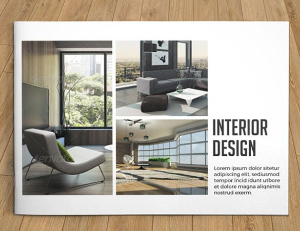 interior brochure template for business