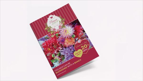 flowershop_a4bifold_brochure template