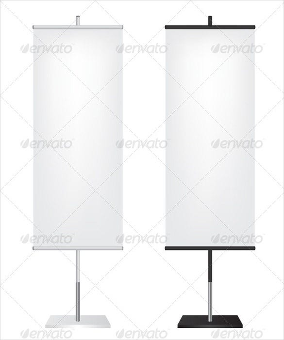 rollup flag banner template
