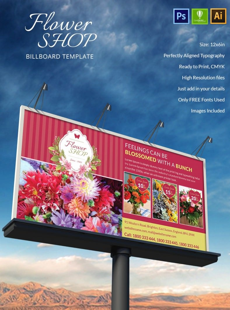Flowershop Billboard X on simple family tree template