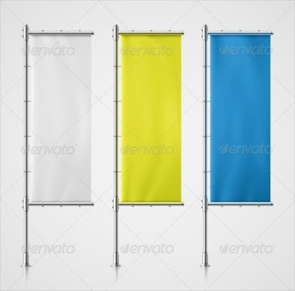 promo flag banner template