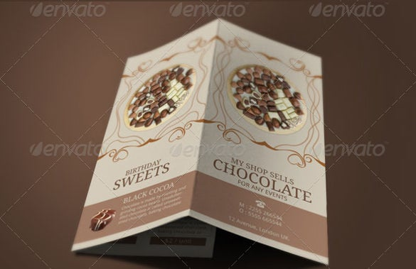 easter swiss chocolate brochure template