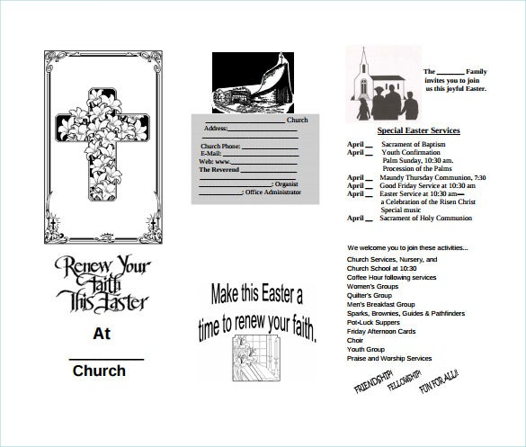 easter church brochure sample template free download