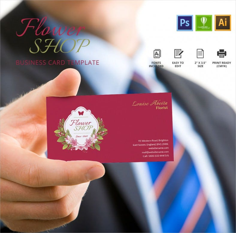 Creative Flower Shop Business Card Template | Free & Premium Templates
