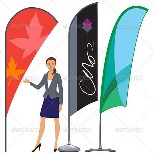 corporate flag banner template