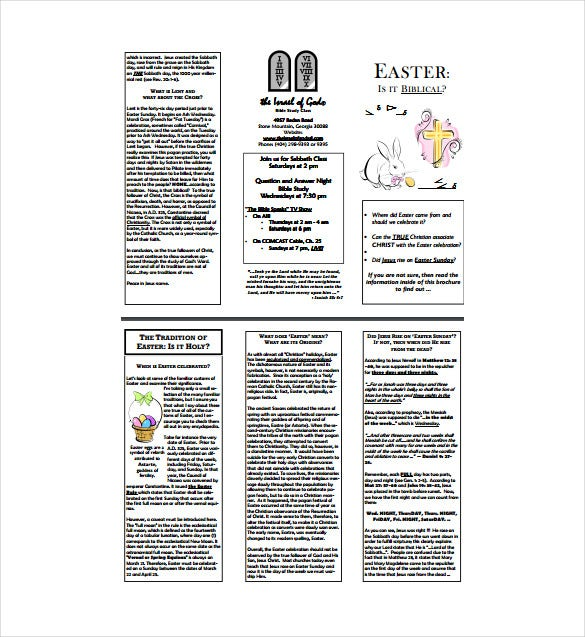 pdf easter brochure template download