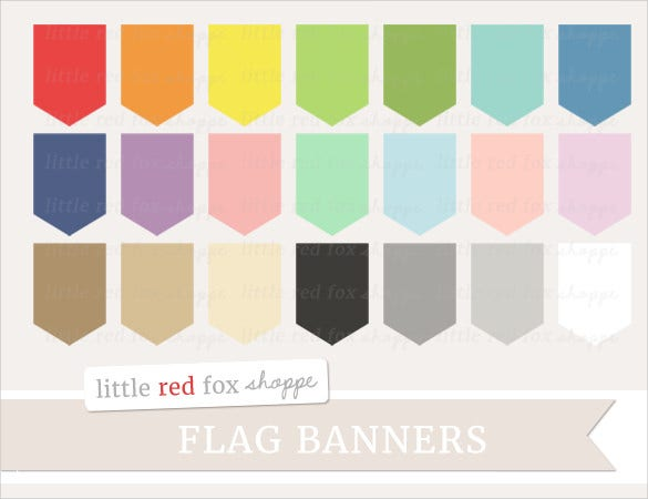 label flag banner template