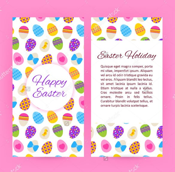 happy easter flyer brochure template