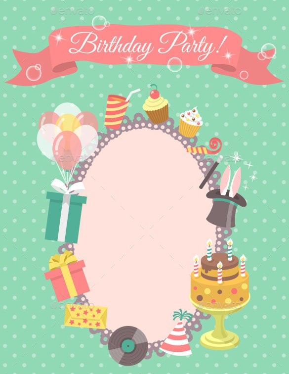 Blank Birthday Templates  Free Sample Example Format Download