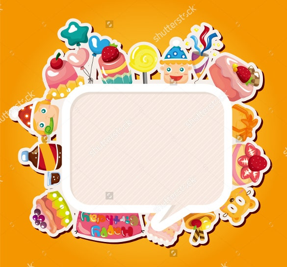 colorful background blank birthday template