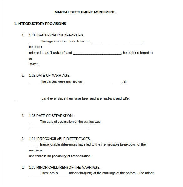Settlement Agreement Template 16 Free Word Pdf Document Download