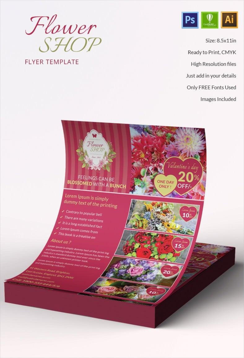 Fantastic Flower Shop Flyer Template