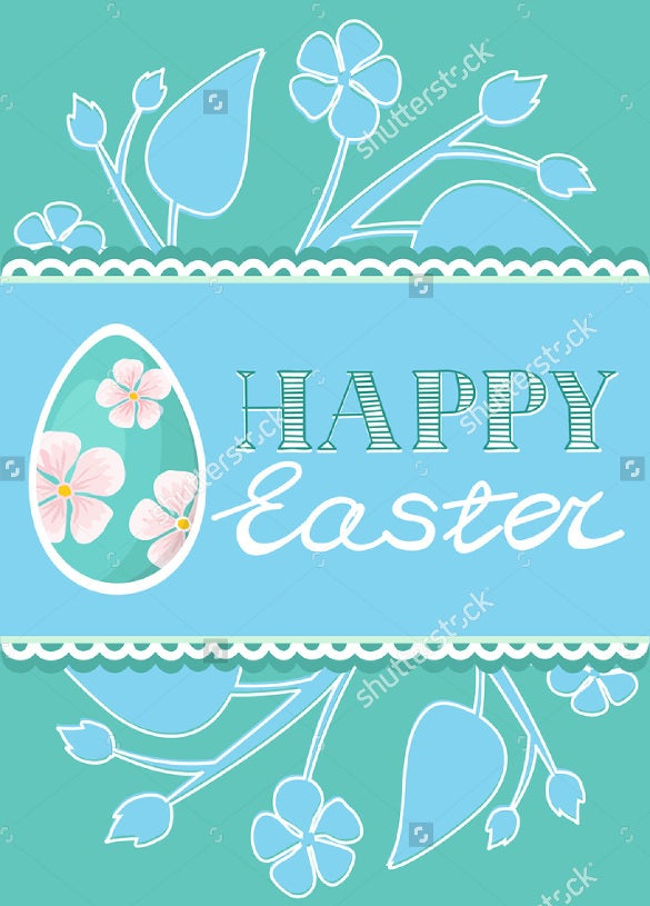 set of easter brochure flyer layout template