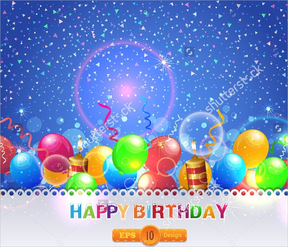 blank birthday template with stars
