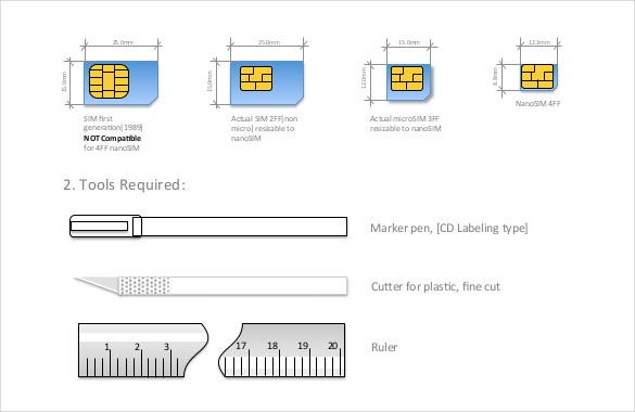 How To Make A Nano Sim From Free Pdf Template