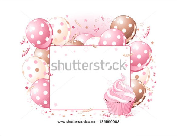 white background blank birthday template