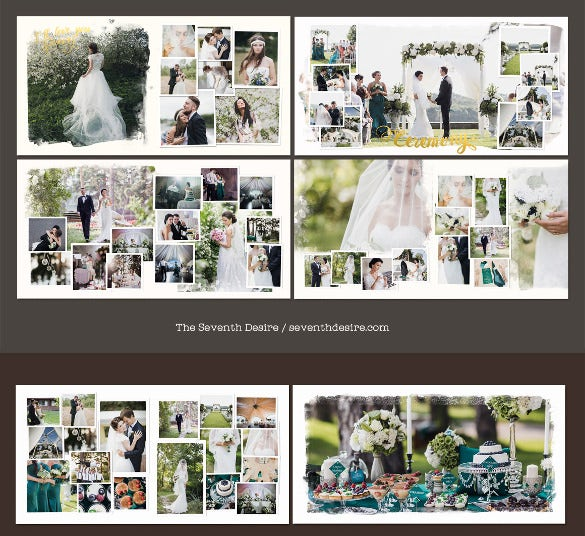wedding photobook template psd design download