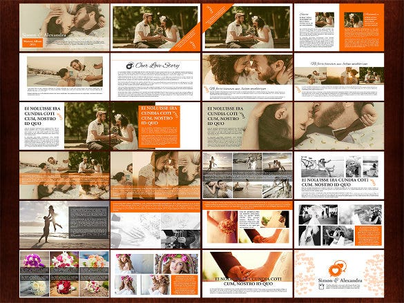 premium wedding photoalbum template format download