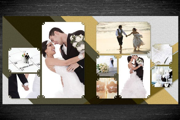 photobook wedding album template photoshop psd download