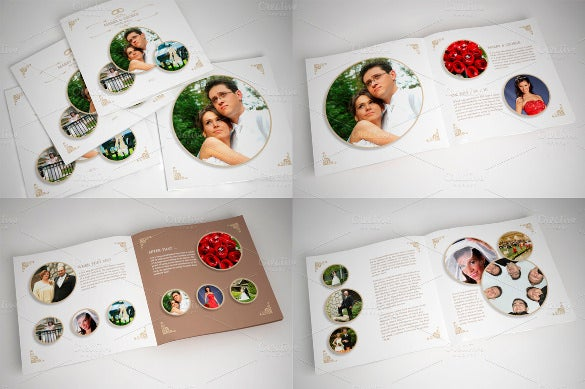wedding album with rounded frames indd format download