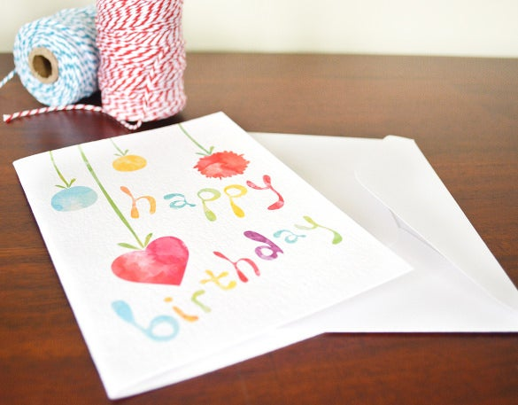hand made blank birthday card template