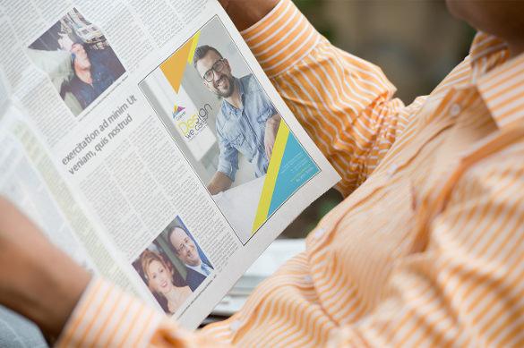 newspaper advertising mockups