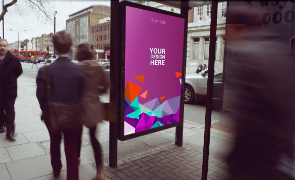 bus stand advertising mockup
