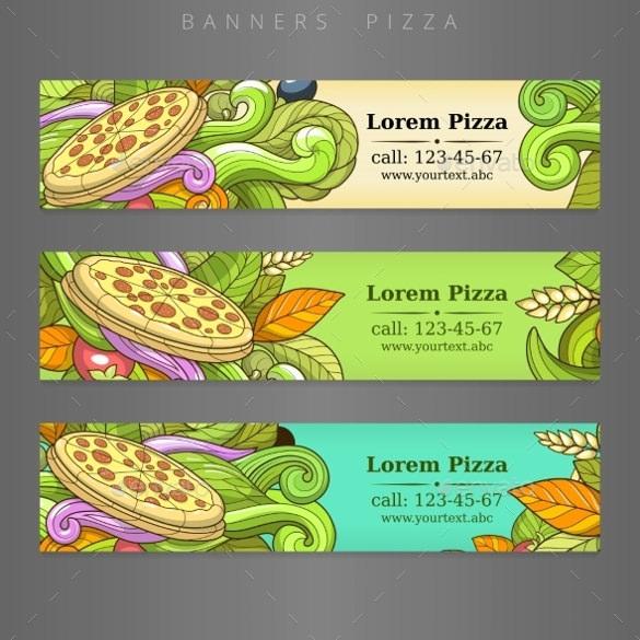 banner advertisement pizza design vector