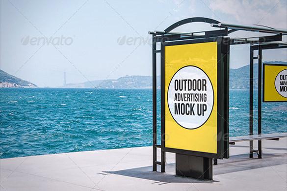 outdoor advertising mock up