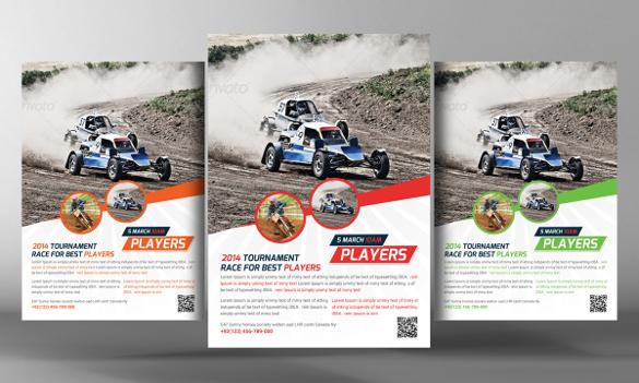 racing school advertising flyer template