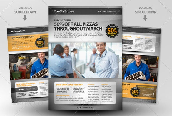Pro Services A4 Magazine Adver Template
