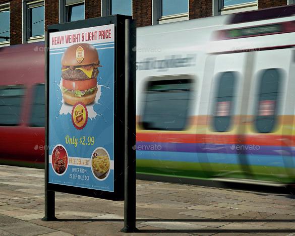 burger restaurant advertising template