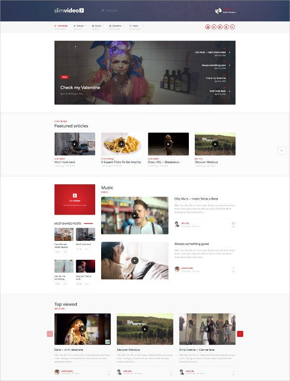 video wordpress community website theme1