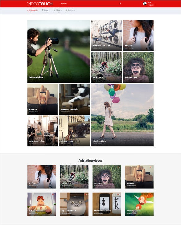 responsive video wordpress website theme
