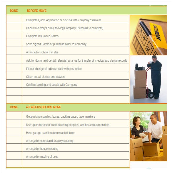 Moving Inventory Template   Free Excel Pdf Documents Download