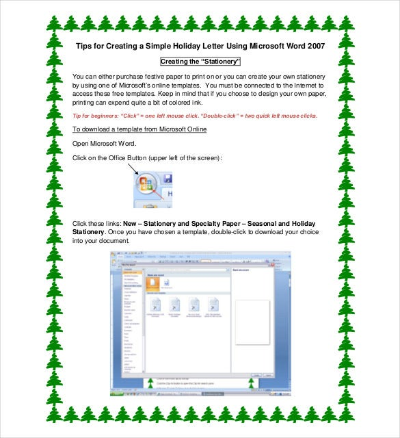 simple example holiday letter template download - Holiday Pictures To Download