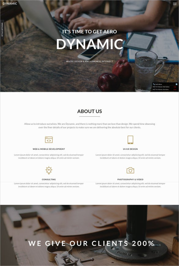 dynamic video portfolio website template