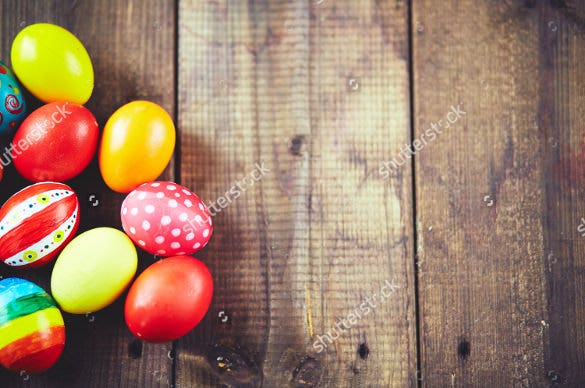 easter symbols on wooden background download