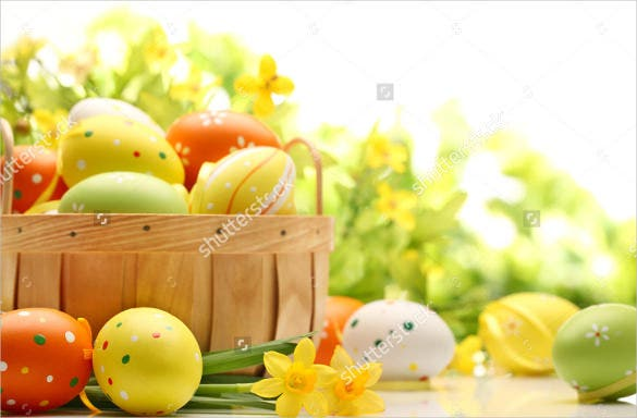 easter background decoration with eggs download