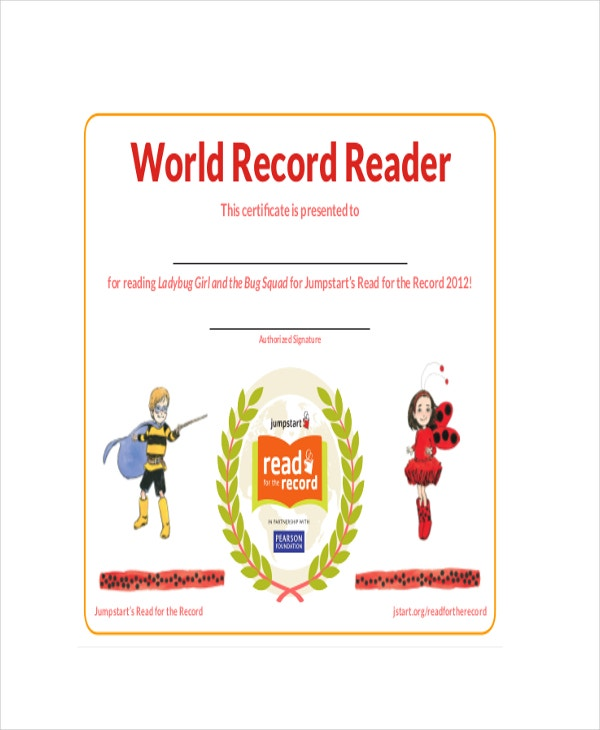 World-Record-Reader-Certificate