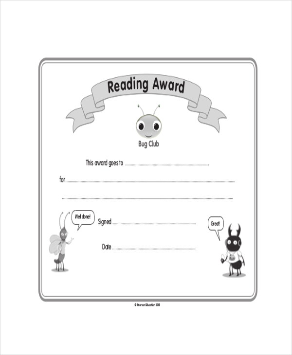 ChildrenS-Reading-Certificate-Template