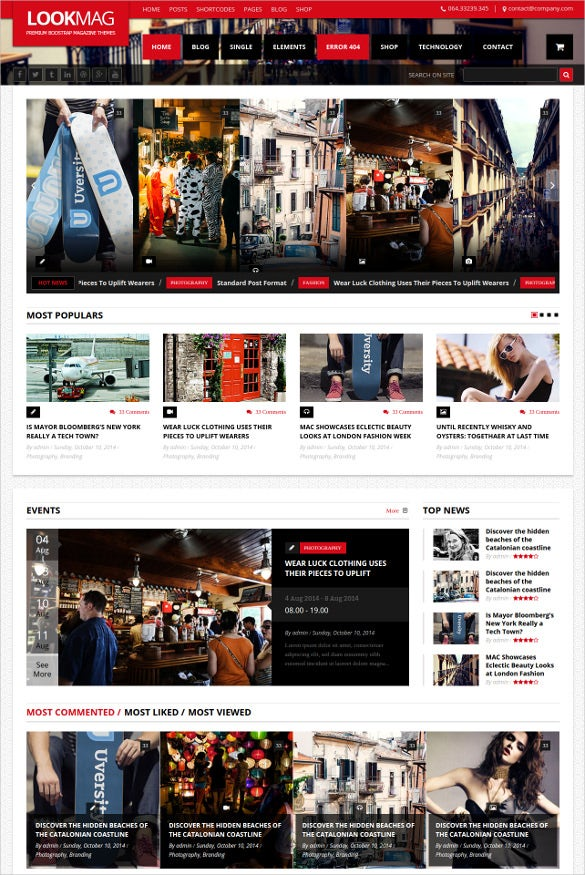 Video Html5 Magazine Website Template 15