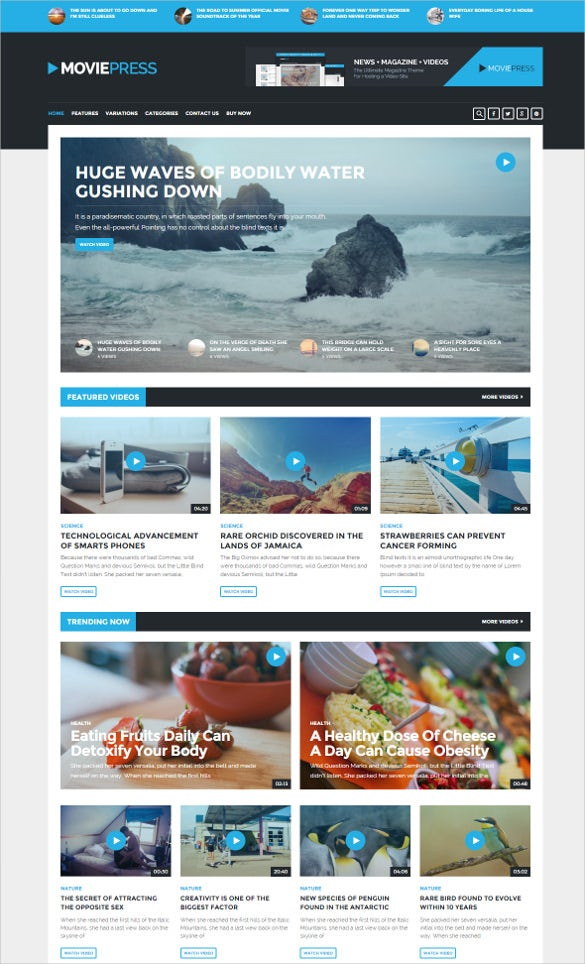 50 free responsive html5 web templates web design news for News site template free download