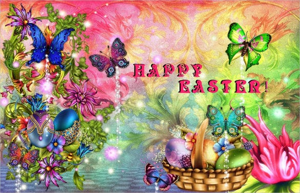 easter background download with butterflies