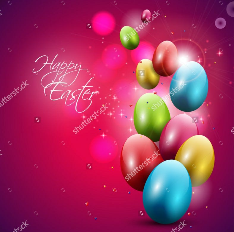 modern red easter background with colorful eggs download 788x779