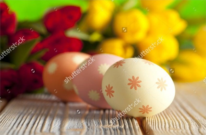 easter eggs on colorful spring background download 788x516
