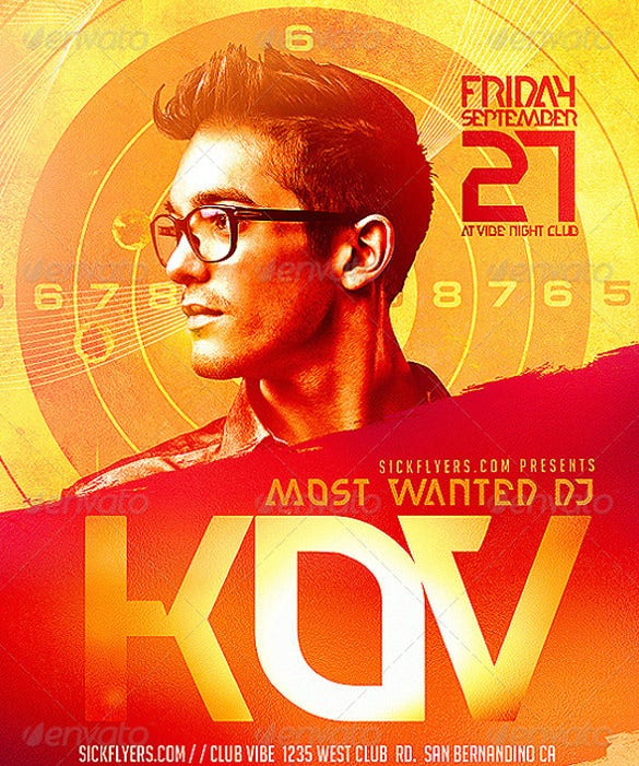 most wanted flyer template psd