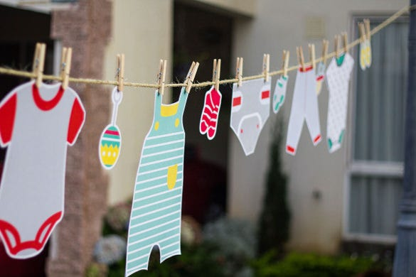 realistic baby shower banner