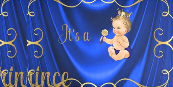 blue baby shower banner