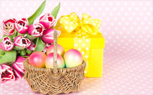 easter background with basket download